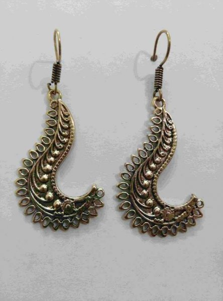 Traditional Golden Designer Jhumki