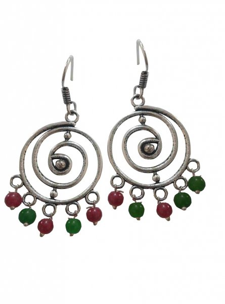 Designer oxidised tribal jhumki
