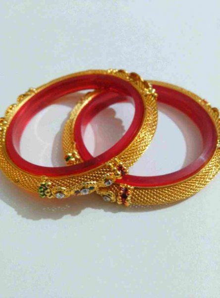 Designer Golden Bangle Pair