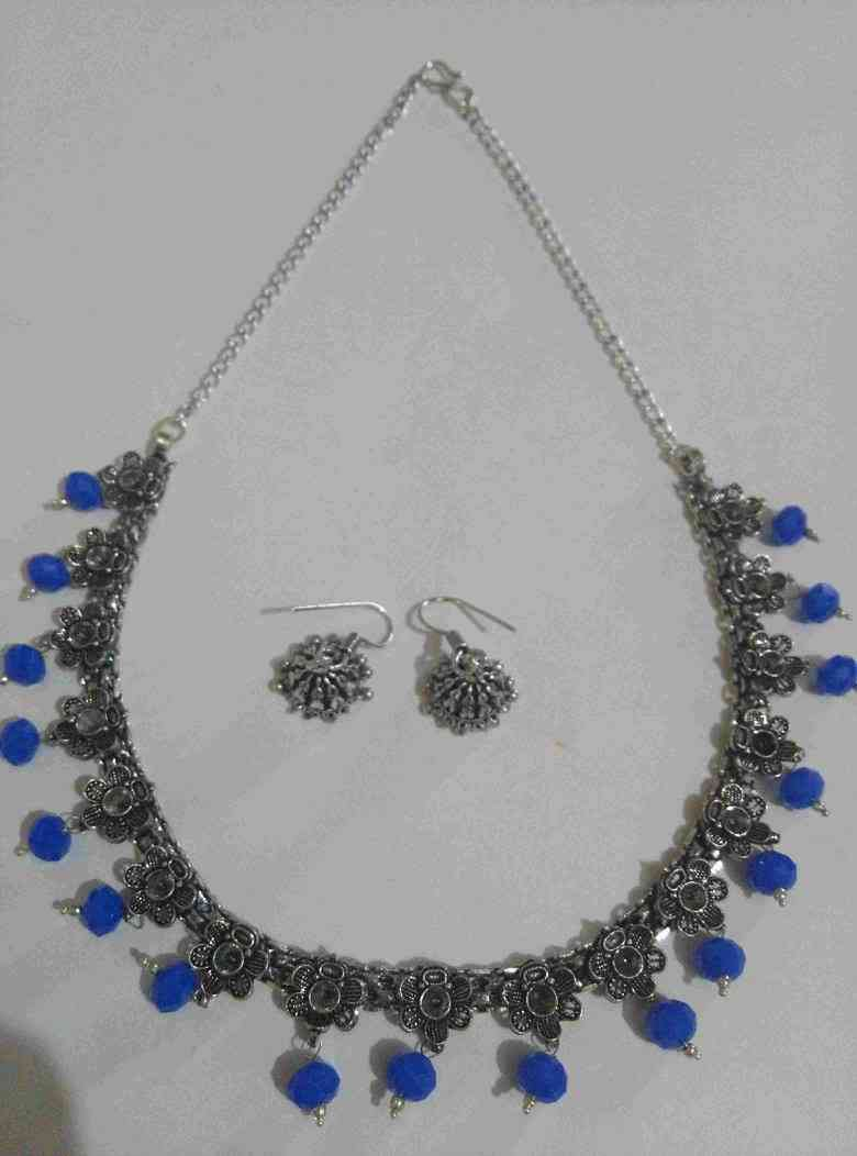 Designer Flower Cut Stone Necklace Set