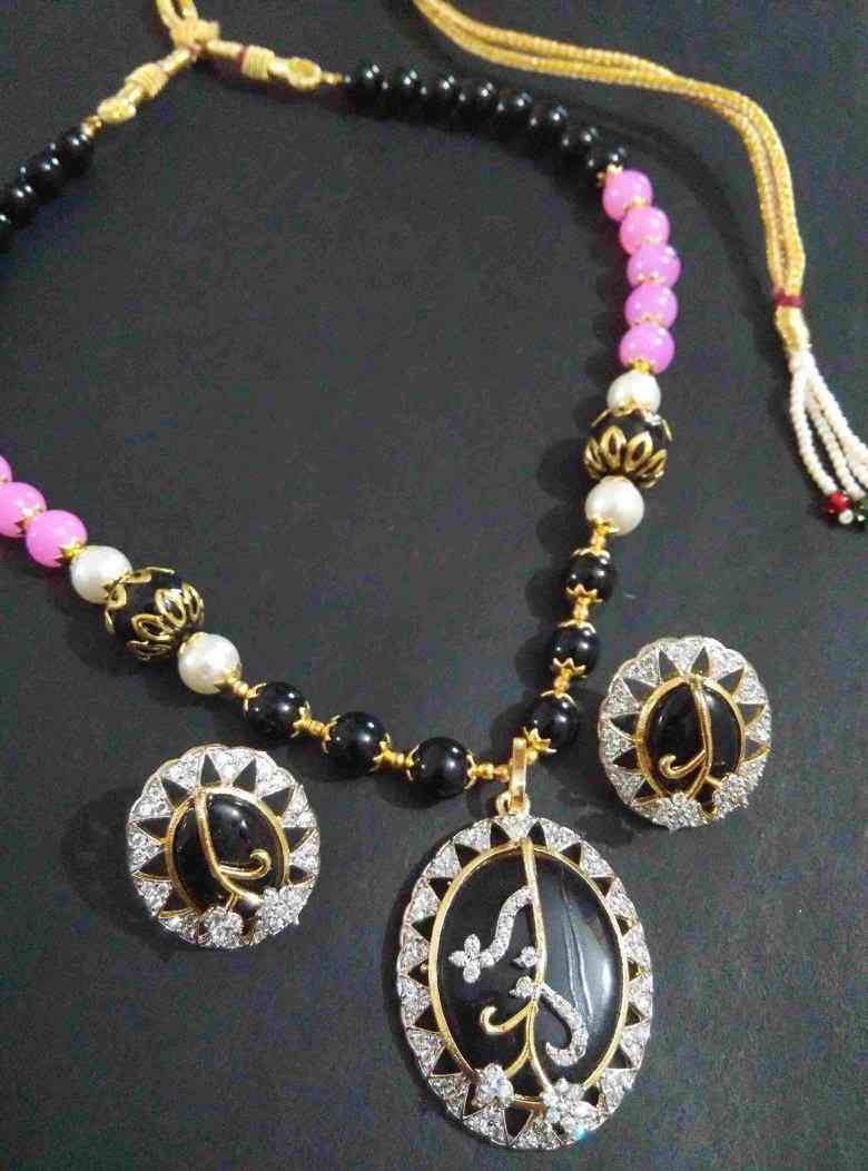 Partywear AD Monalisa Pearl Necklace Set