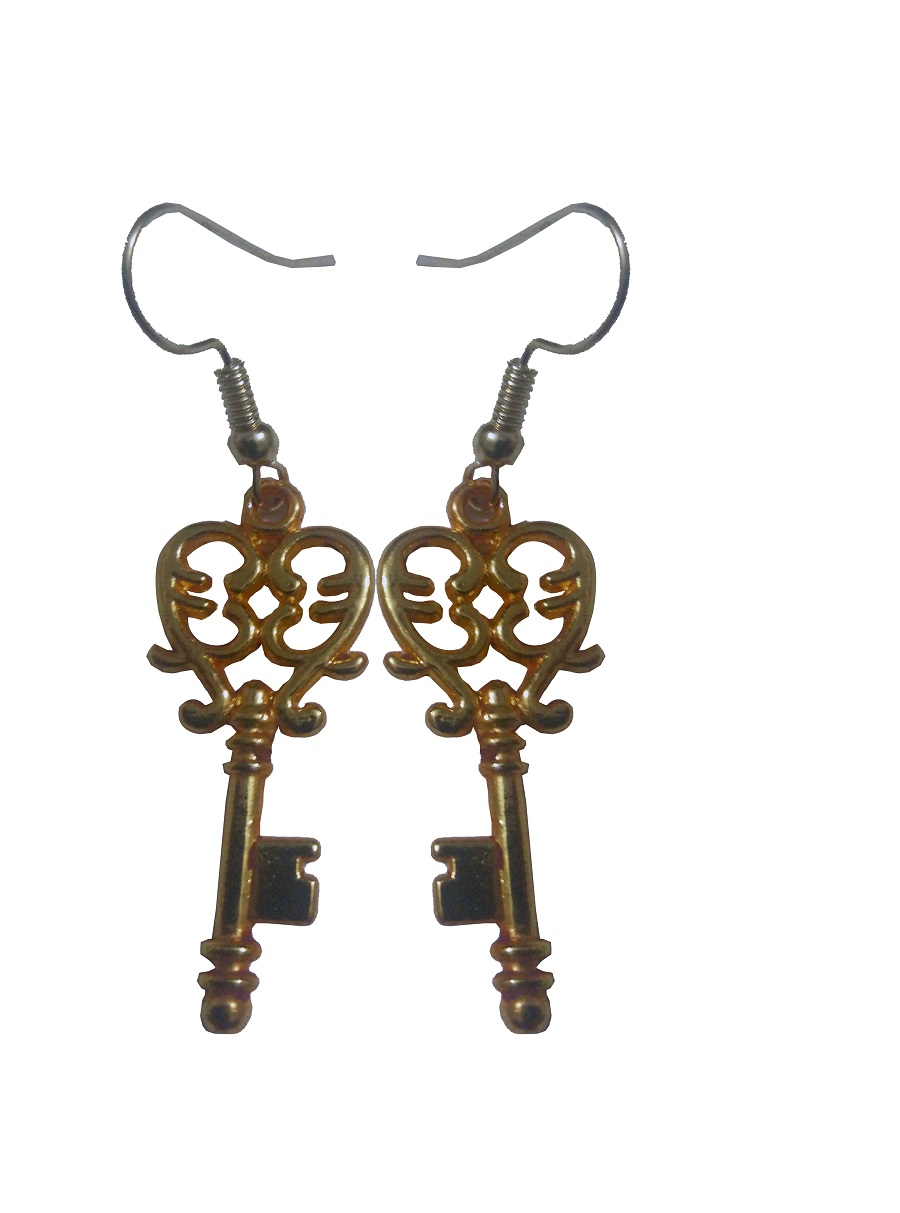 Key Designed Geru Polished Earring