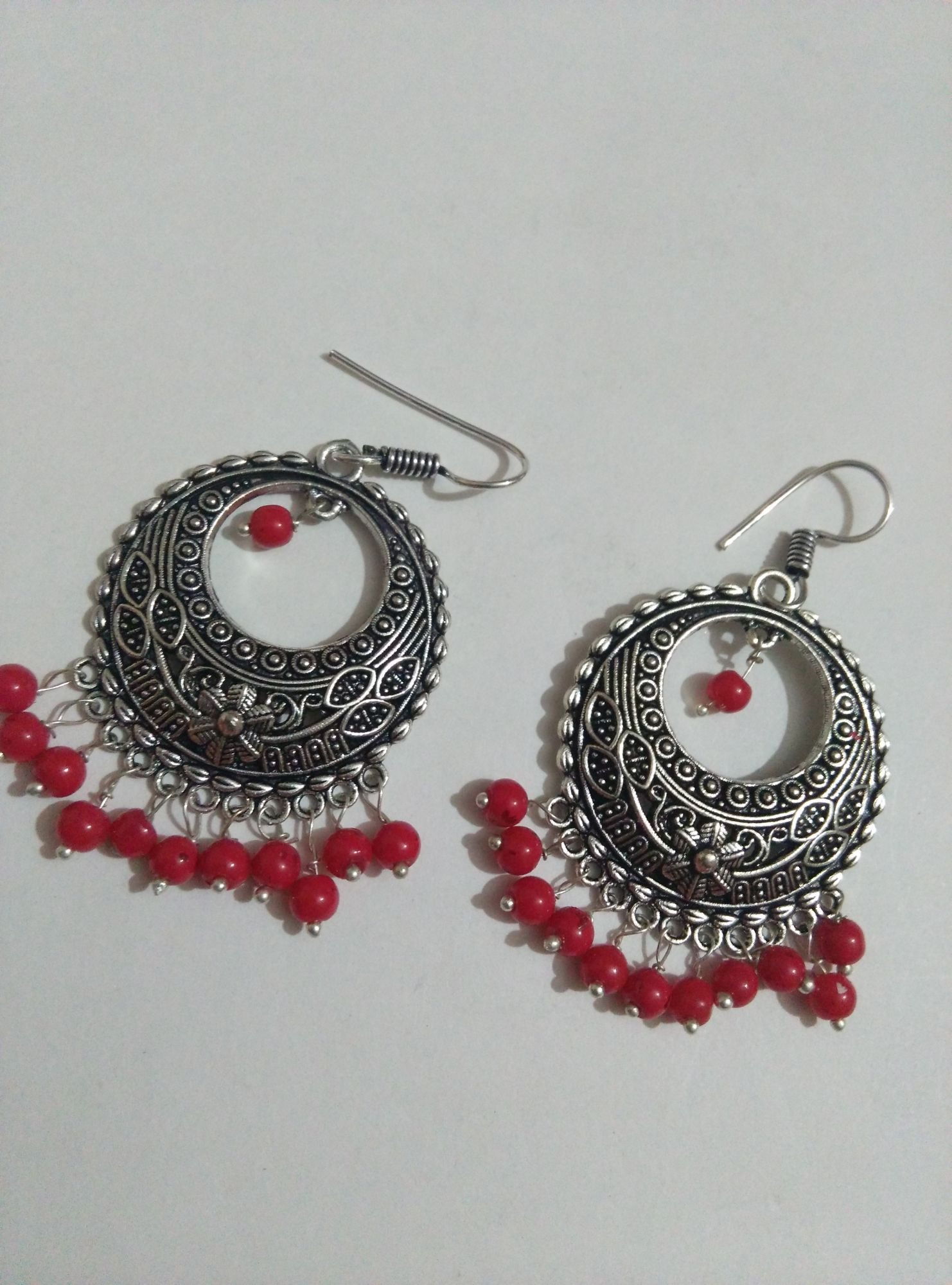 front with silver gold german earrings designer chandbali beads