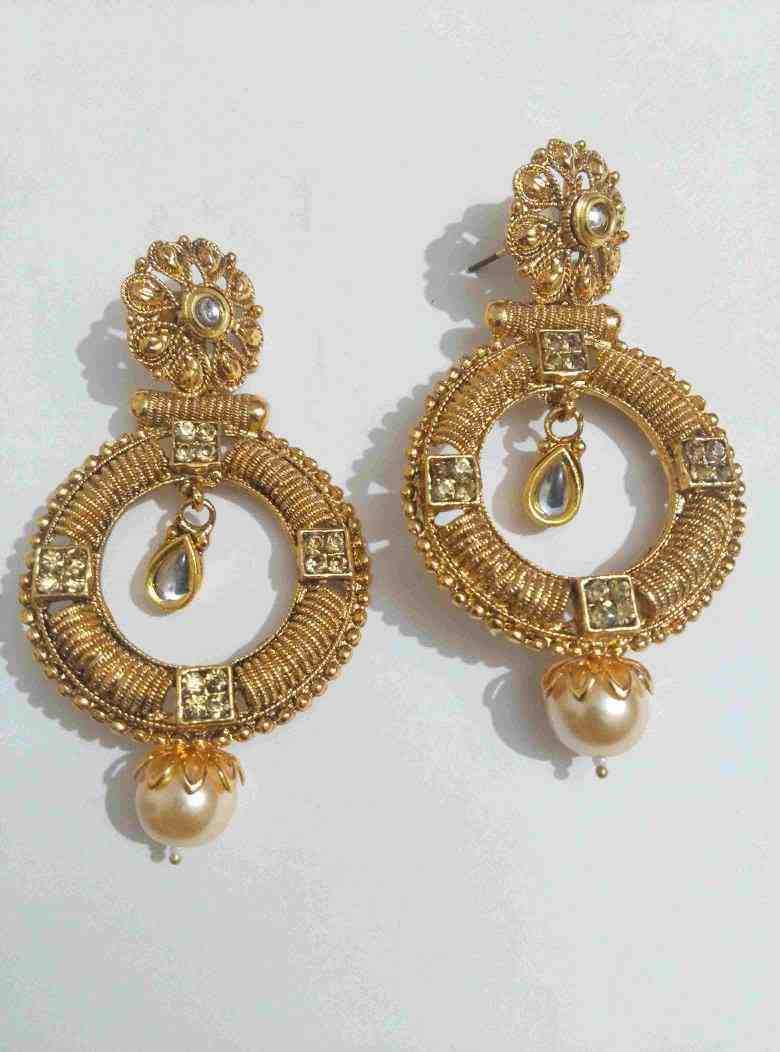 detail plated jhumki earrings oxidised gold jaipur metal rajasthani mart silver product brass