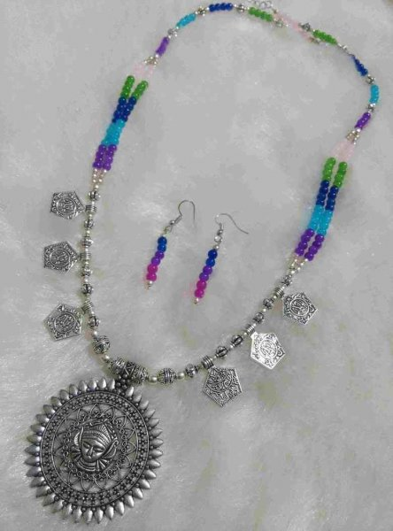 Gorgeous Buddha Beaded Stone Necklace Set