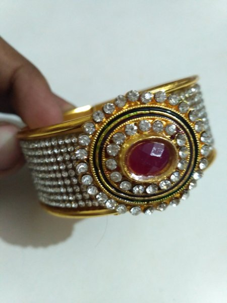 Beautiful AD Stone Kada Bracelet