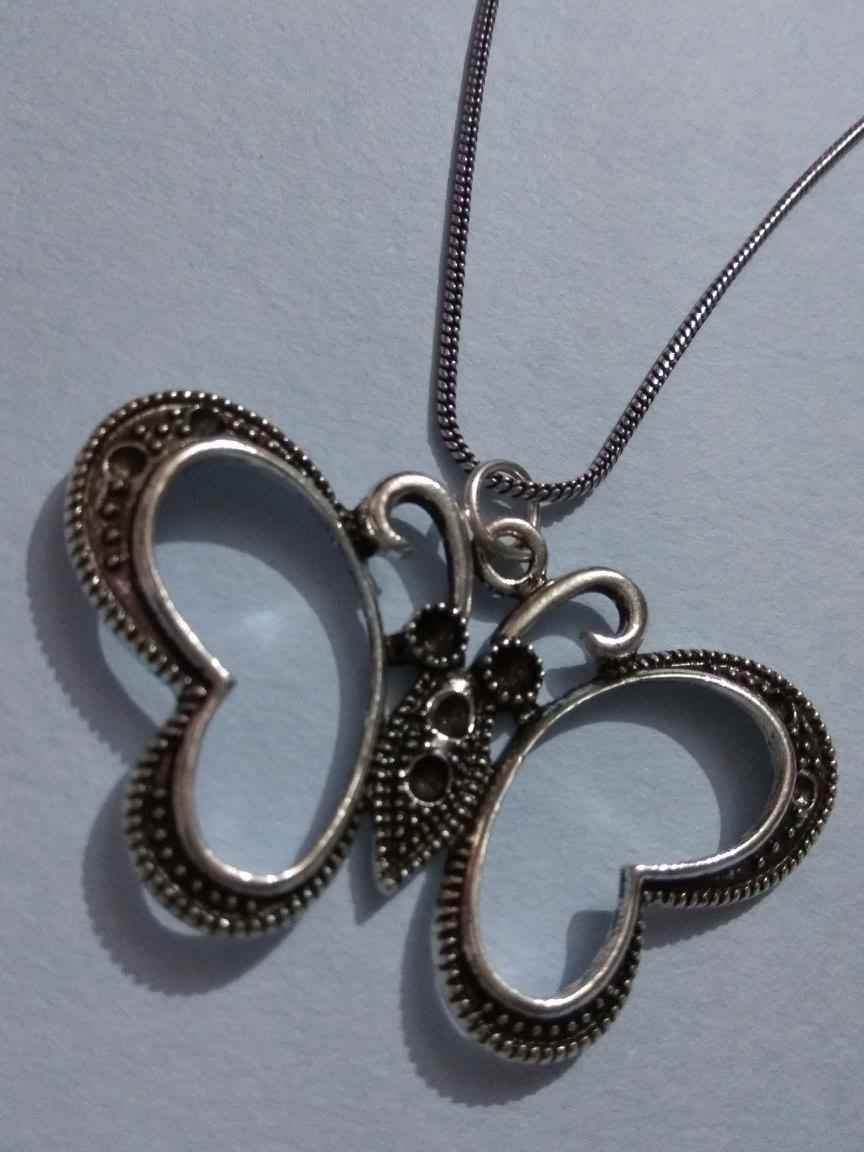 Designed Butterfly Pendant with Chain