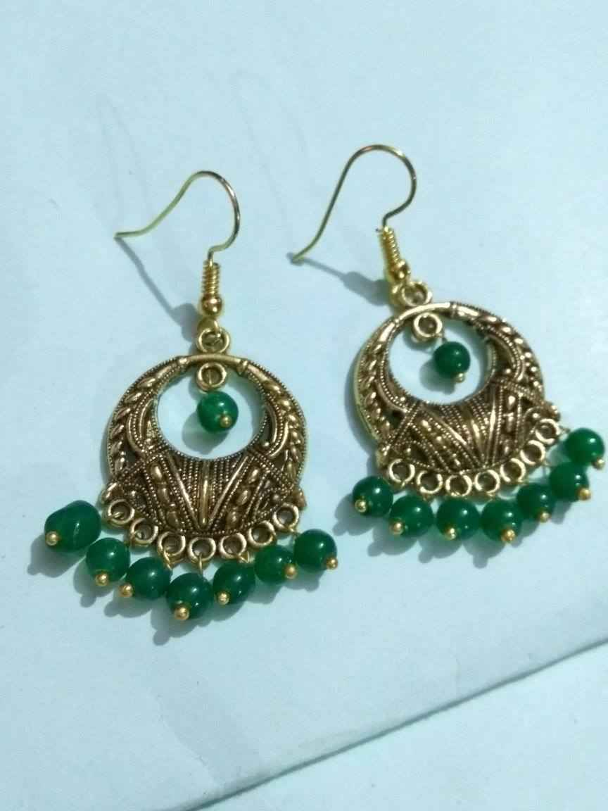 product at buy golden earrings trinetra online