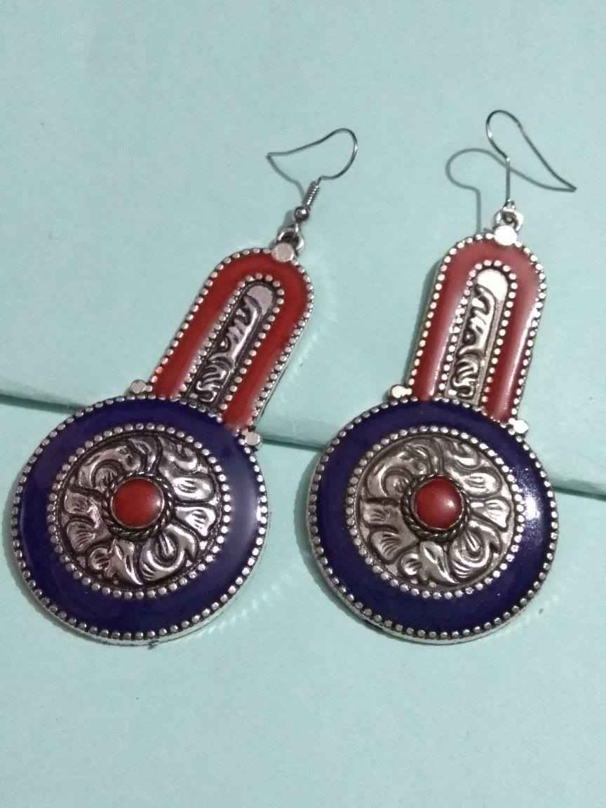 Traditional Nepali Stone Earring