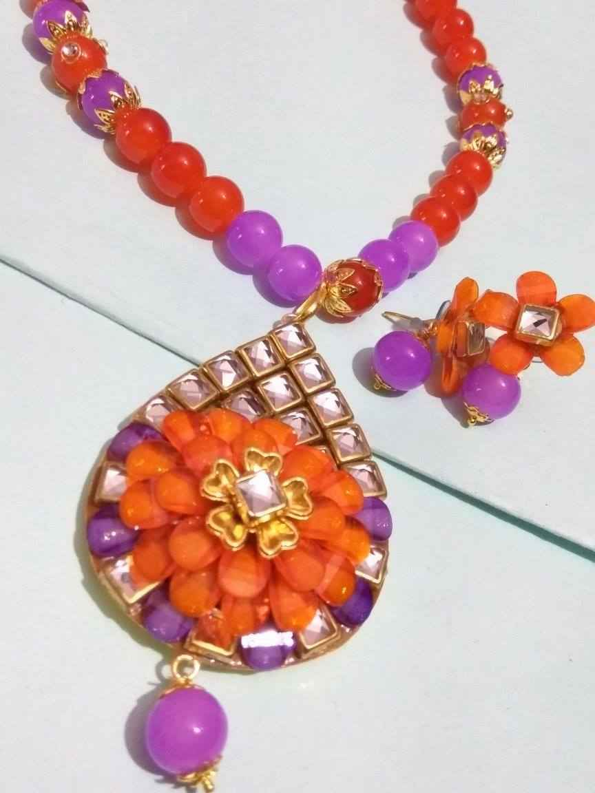Partywear Kundan Necklace Set
