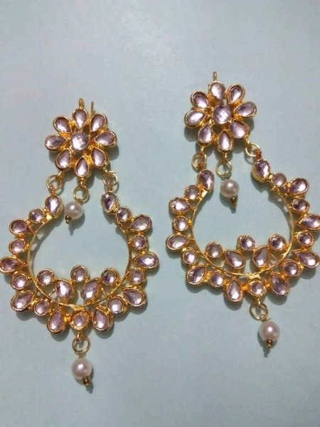 Royal Rajwada Kundan Chandbali Earring