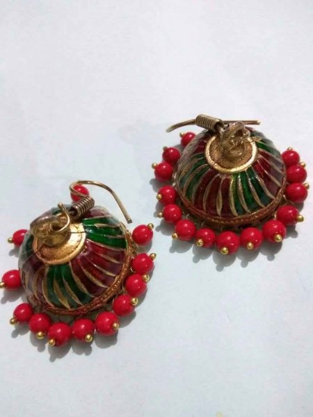 Meenakari Multi Colour jhumki
