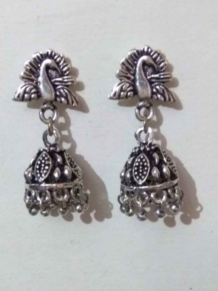 Tribal Peacock Top Jhumki