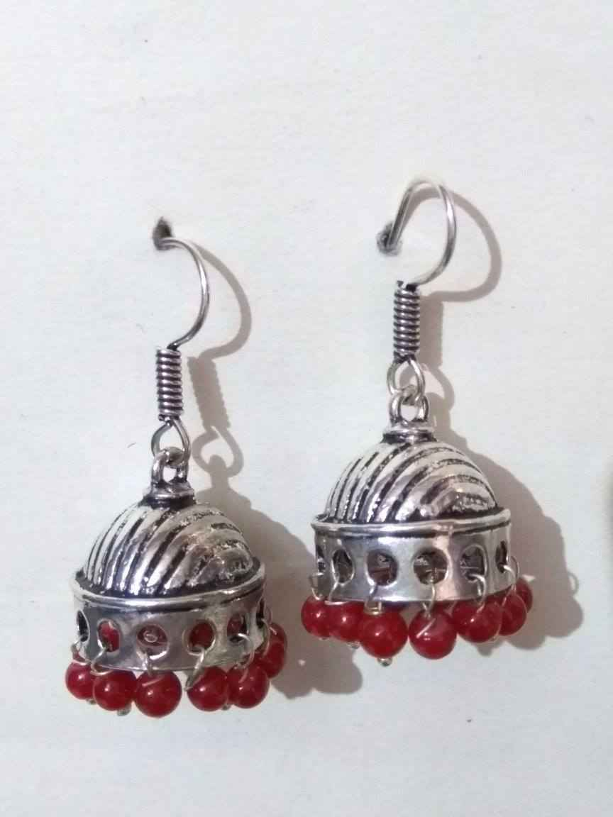 Stylish Beaded Jhumki