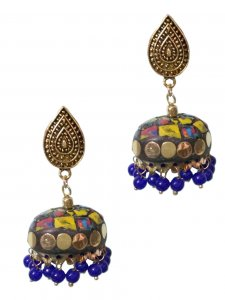Tribal Nepali Stone Beaded Earring