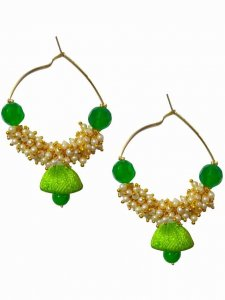 Lovely Jadau Thread Earring