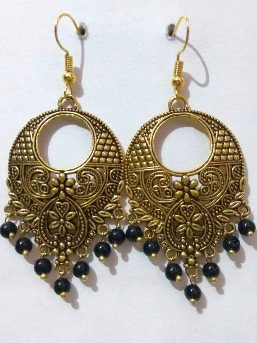 lotus brass earrings floral rajasthani ethnic products copy flower indian of