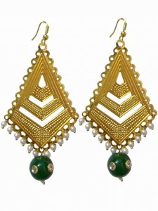 Beautiful Golden Beaded Earring