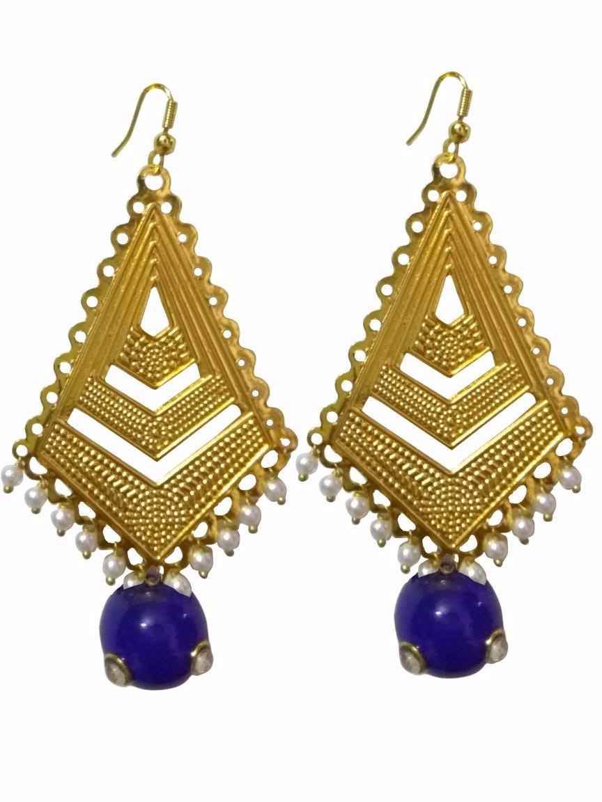 gold for s itm glamyug ethnic golden girls earrings plated traditional