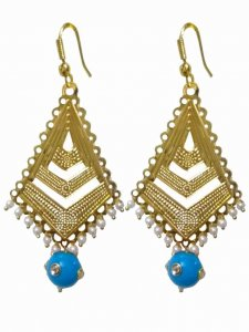 Trendy Golden Triangular Earring