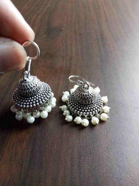 Ethnic Beaded Jhumki