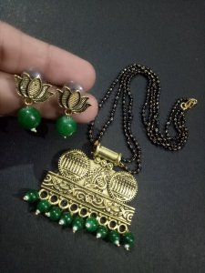 Royal Golden Green Mangalsutra Set