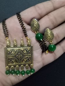 Pleasant Golden Mangalsutra Set