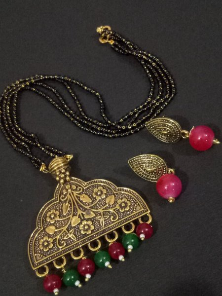 Stylish Golden Mangalsutra Set