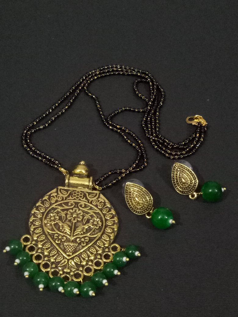 Gorgeous golden Mangalsutra Set