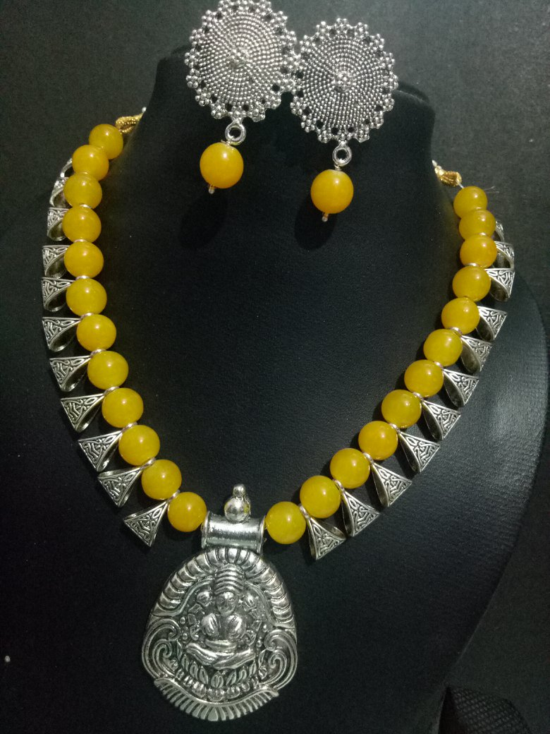 Lovely Temple Goddess necklace Set