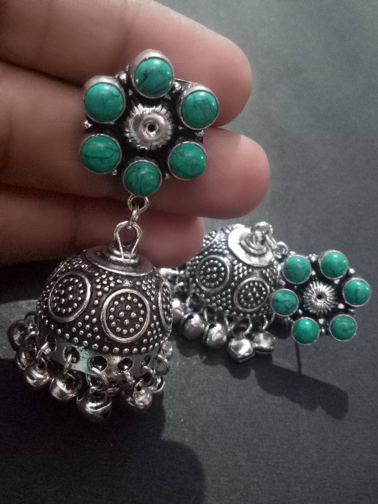 Marvelous Stone Jhumka