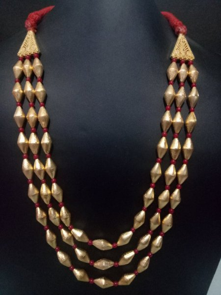 Royal Triple Layer Dholki Mala