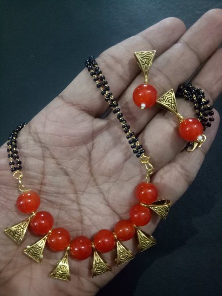 Gleaming Golden Mangalsutra Set
