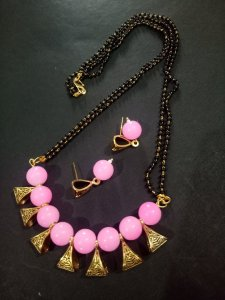 Trendy Golden Mangalsutra Set