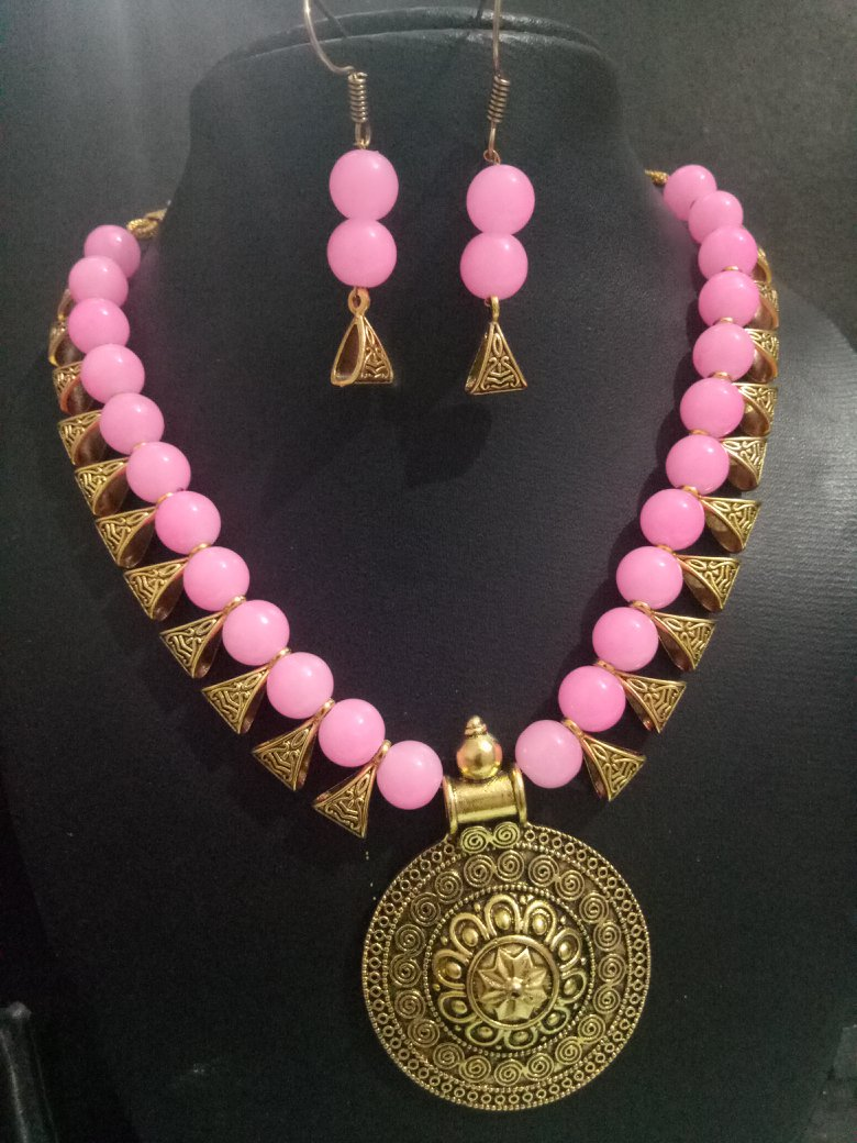 Tribal Golden Necklace Set
