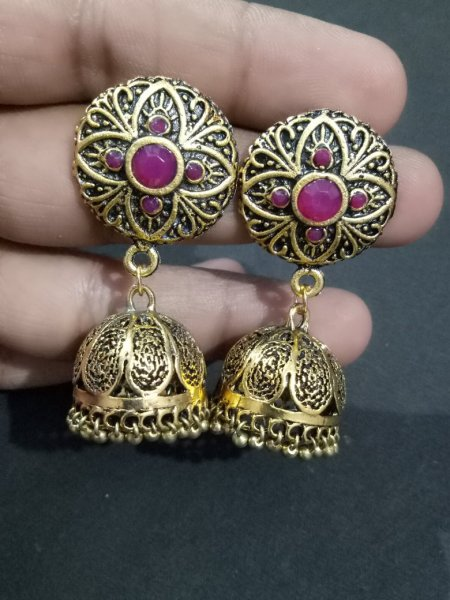 Antique Stone Jhumka