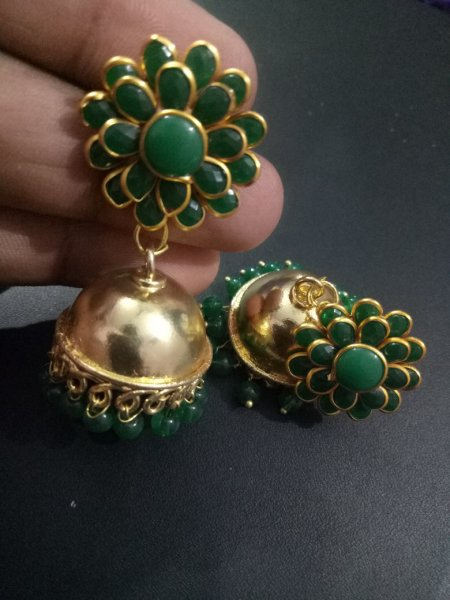 Terrific Golden Pacchi Jhumka