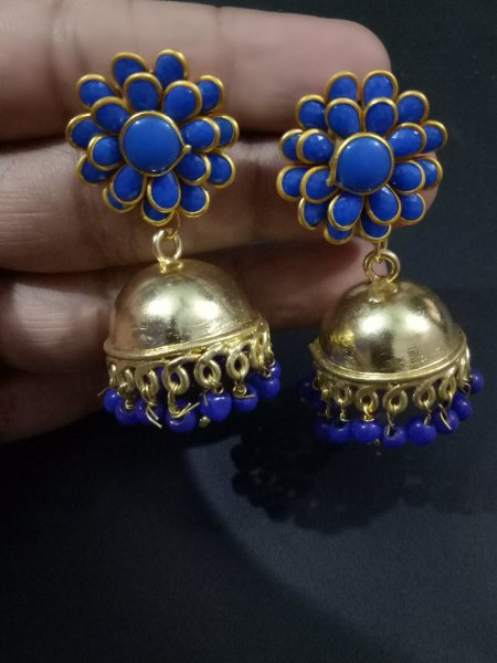 Elegant Jaipuri Handcrafted Pacchi Earrings