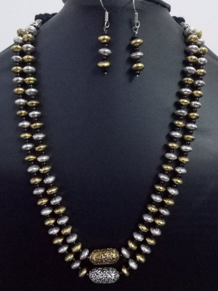 Antique Jaipuri Dual Tone Mala Set