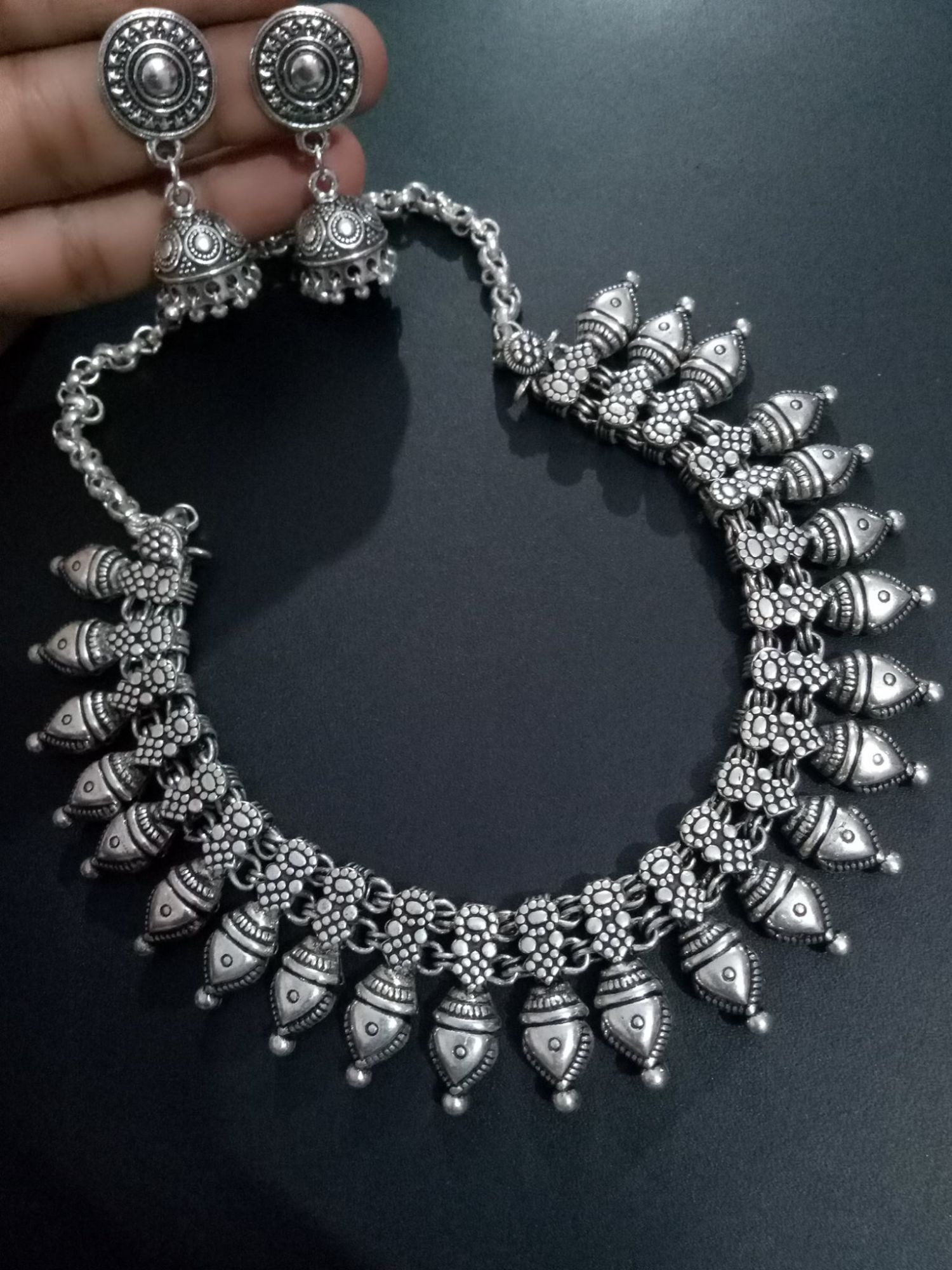 Trendy kolhapuri necklace set