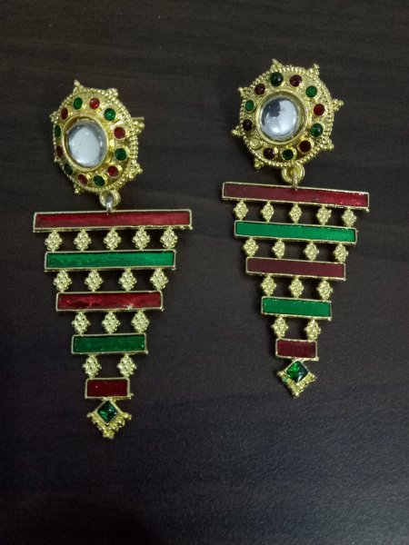 Ethnic Jaipuri Meena Earrings