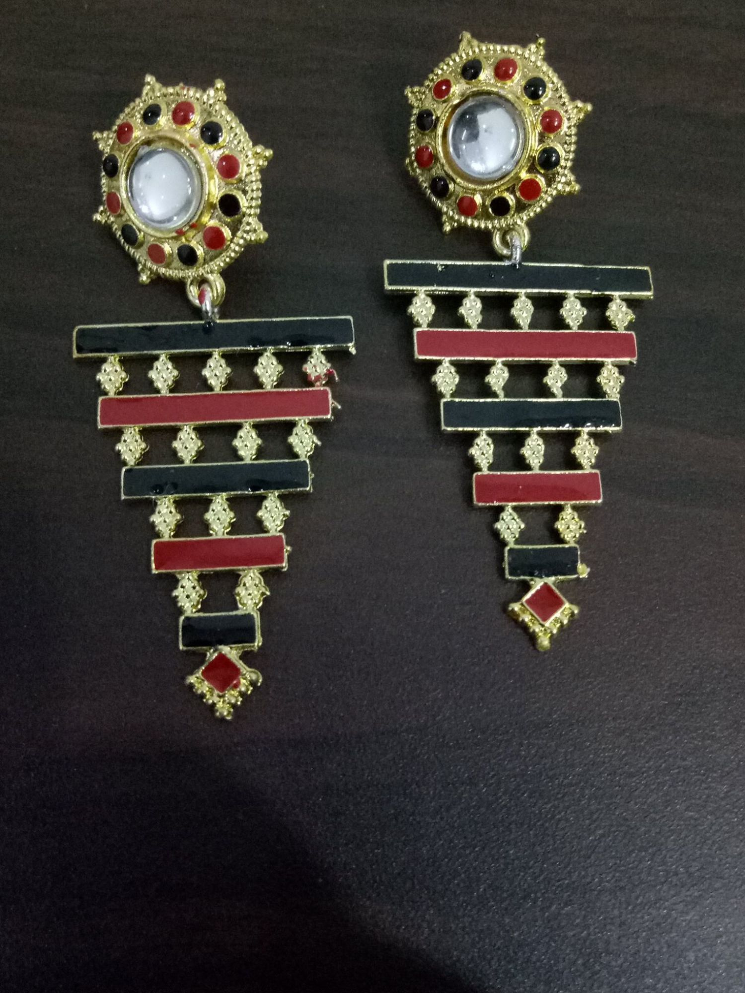 Vibrant Meenakari Long Earrings