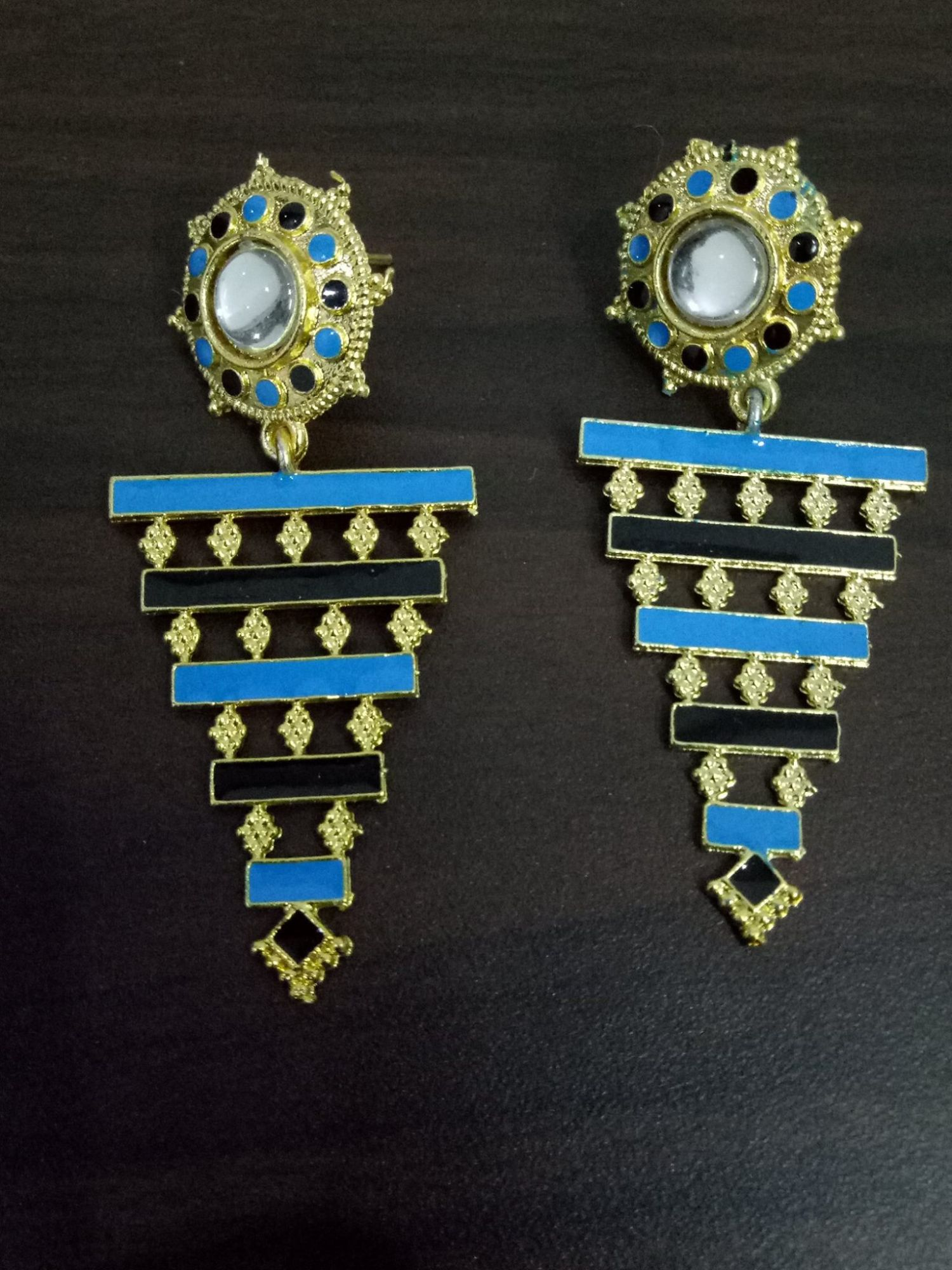 Handicrafted Jaipuri Enamel Earrings