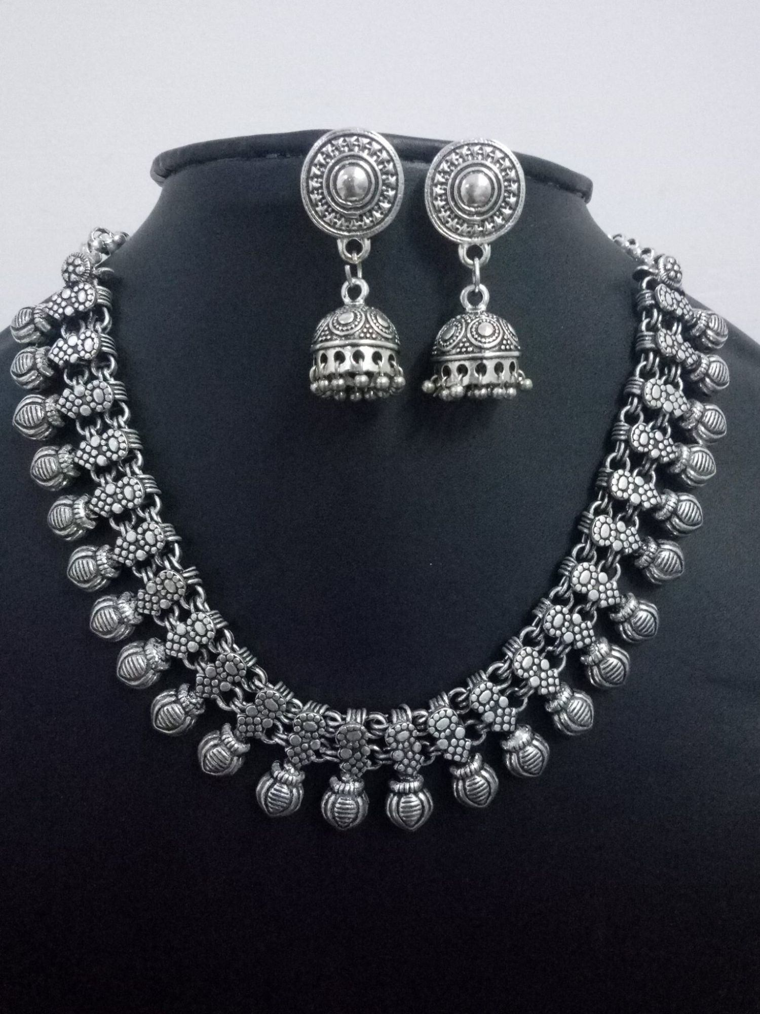 Trendy Oxidised Kolhapuri Necklace Set
