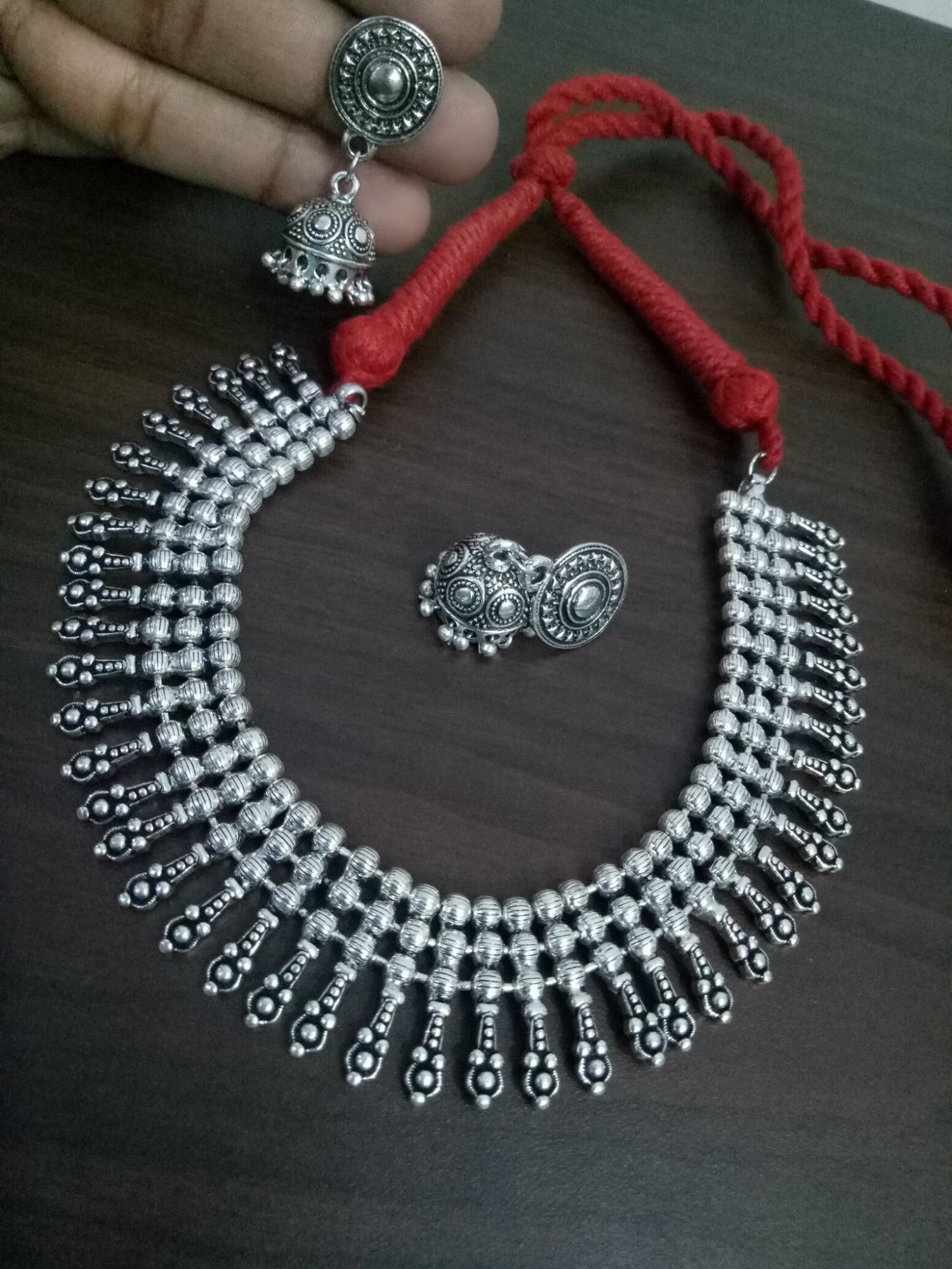 Attractive spike Ball Chain Necklace Set