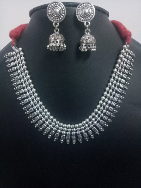 Trendy Ball Chain Necklace Set