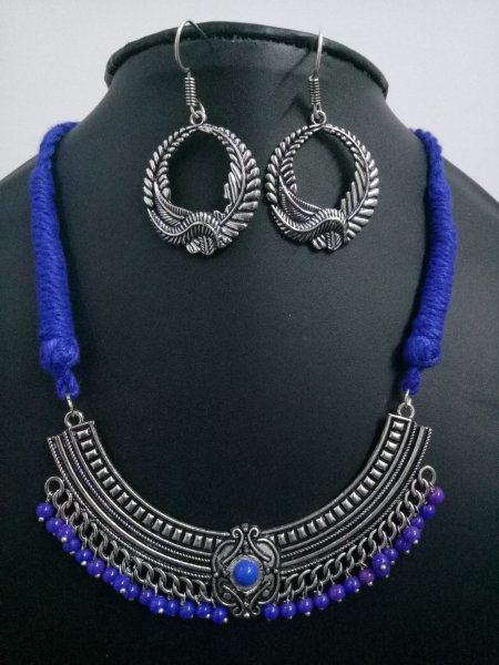 Beautiful Beaded Thread Necklace Set