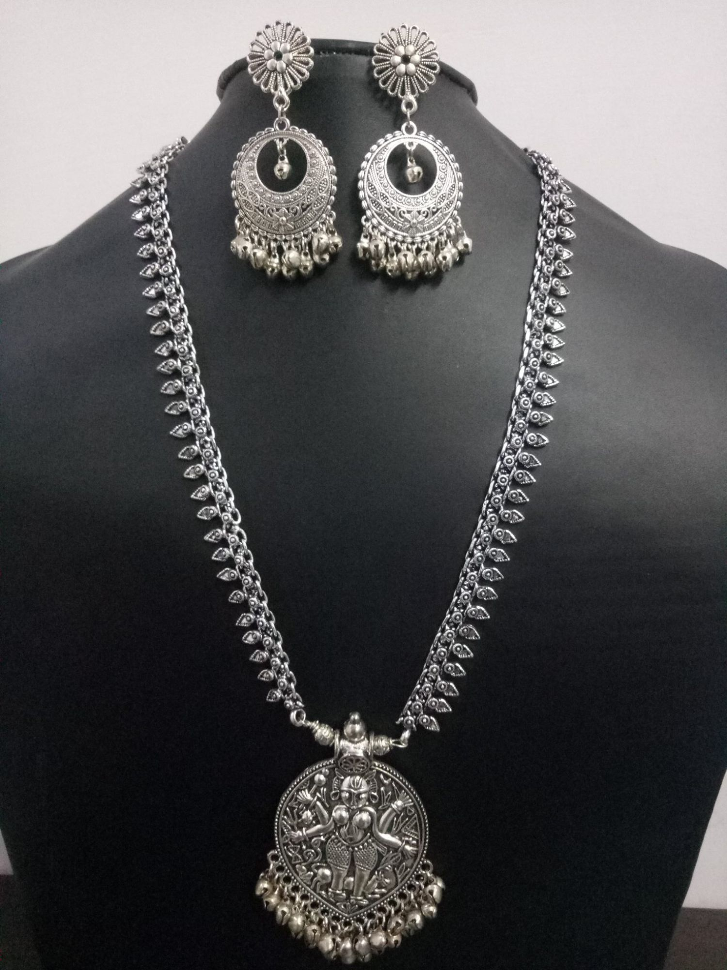 Beautiful Rajawada Long Necklace Set