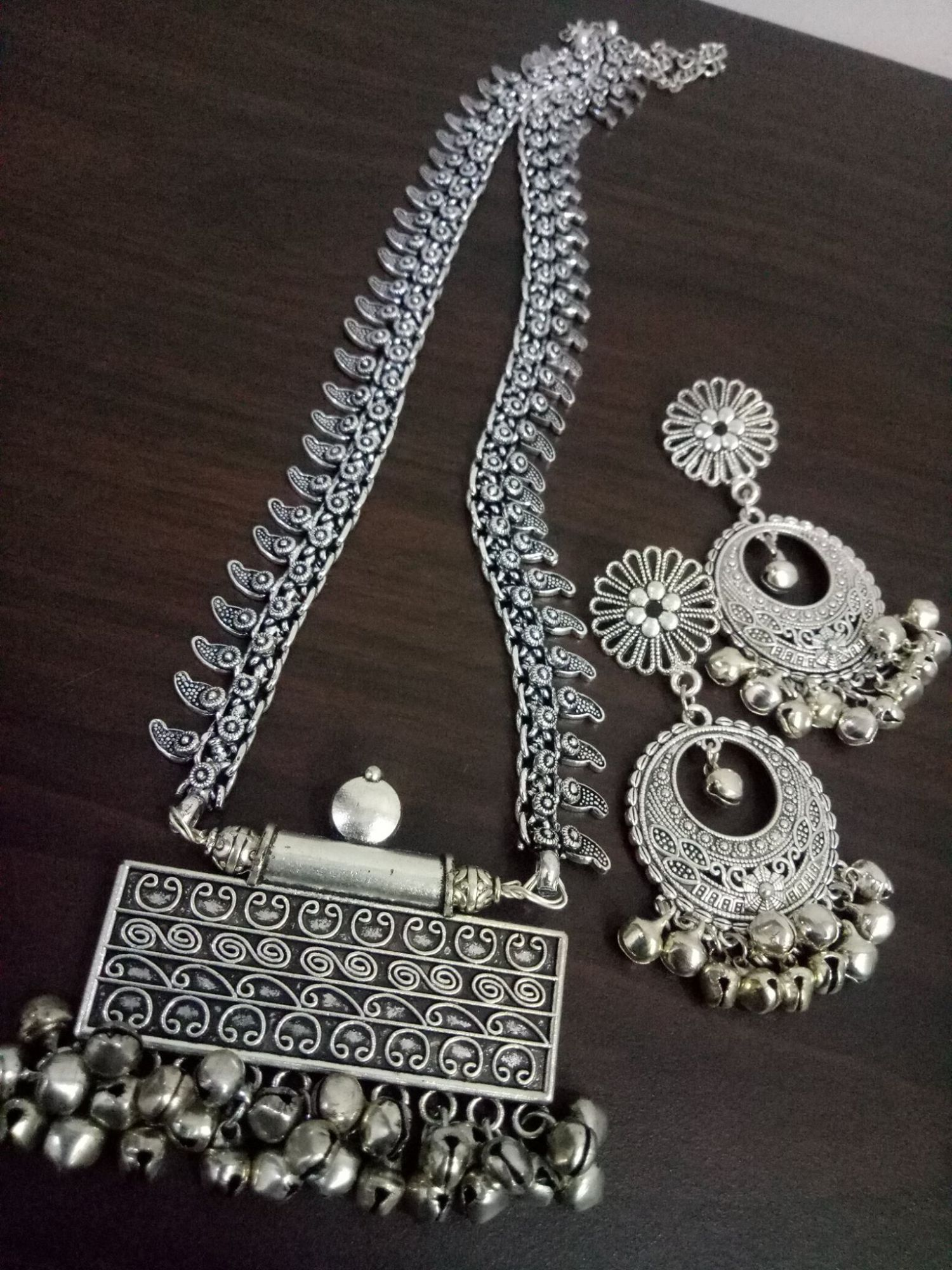 Elegant Long Rajwada Necklace Set