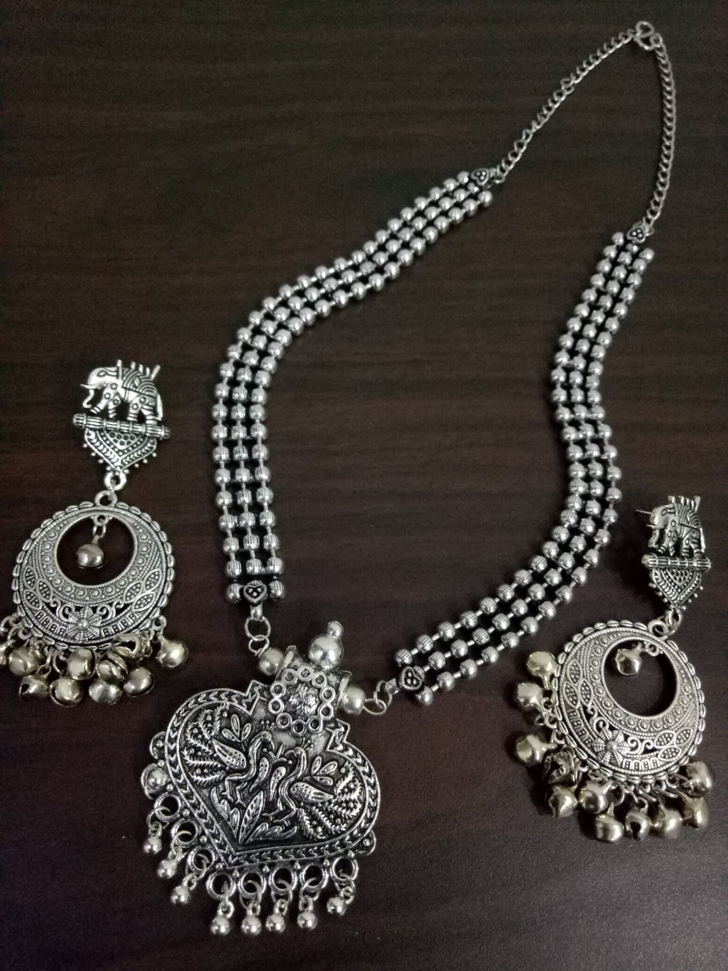 Attractive  Ball Chain Necklace Set